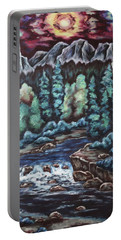 Portable Battery Charger featuring the painting In The Land Of Dreams by Cheryl Pettigrew