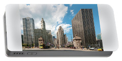 In The Middle Of Wacker And Michigan Portable Battery Charger