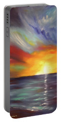In The Moment - Vertical Sunset Portable Battery Charger