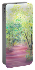 Portable Battery Charger featuring the painting In The Park by Elizabeth Lock