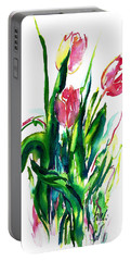 In The Pink Tulips Portable Battery Charger