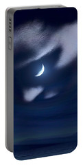 In The Quiet Of Your Mind Blue Portable Battery Charger by ISAW Gallery