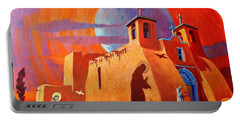 In The Shadow Of St. Francis Portable Battery Charger by Art West
