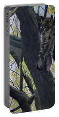 In The Shadow-ojibway Great Horn Owl Portable Battery Charger