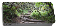 Portable Battery Charger featuring the photograph The Enchanted Forest Path by Gary Smith