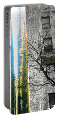 Portable Battery Charger featuring the mixed media Inbetween  by Tony Rubino