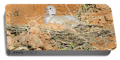 Portable Battery Charger featuring the photograph Eurasian Collared Dove On Nest by Tam Ryan