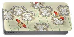 Incendia Flower Garden Portable Battery Charger by Rosalie Scanlon