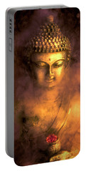 Portable Battery Charger featuring the photograph Incense Buddha by Daniel Hagerman