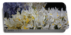 Incredible Irises - Cutout Portable Battery Charger