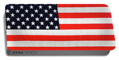 Pooling Independence Day Large Scale Oil On Canvas Original United States Flag Portable Battery Charger