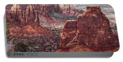 Independence Monument At Colorado National Monument Portable Battery Charger
