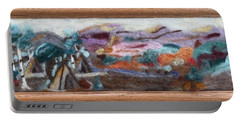 Indian Camp Portable Battery Charger by Christine Lathrop