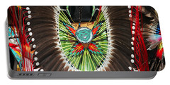 Portable Battery Charger featuring the photograph Indian Decorative Feathers by Todd Klassy