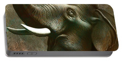 Indian Elephant 2 Portable Battery Charger by Jerry LoFaro