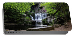 Portable Battery Charger featuring the photograph Indian Ladder Falls by Trina Ansel