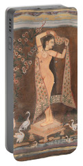 Portable Battery Charger featuring the painting Indian Lady After Swim by Vikram Singh