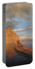 Indian On Lake Pyramid Portable Battery Charger