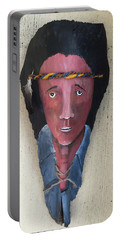 Indian On Palm 2 Portable Battery Charger by Christine Lathrop