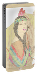 Indian Princess At Fair Portable Battery Charger