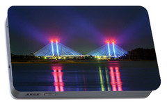 Portable Battery Charger featuring the photograph Indian River Inlet Bridge by Rob Sellers