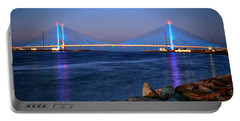 Indian River Inlet Bridge Twilight Portable Battery Charger