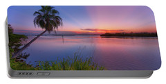 Indian River State Park Bursting Sunset Portable Battery Charger