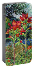 Indian Spring Portable Battery Charger by Hailey E Herrera