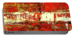 Indian Summer - Red Contemporary Abstract Portable Battery Charger