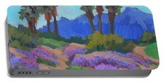 Portable Battery Charger featuring the painting Indian Wells Verbena by Diane McClary