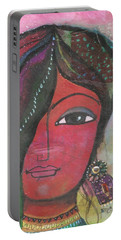 Indian Woman Rajasthani Colorful Portable Battery Charger