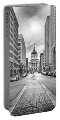 Portable Battery Charger featuring the photograph Indiana State Capitol Building by Howard Salmon