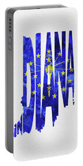 Indiana Typographic Map Flag Portable Battery Charger