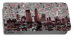 Indianapolis Skyline Abstract 1 Portable Battery Charger