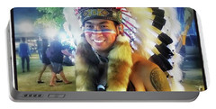 Portable Battery Charger featuring the photograph Indians Invade Thailand. Cowboys Too by Mr Photojimsf