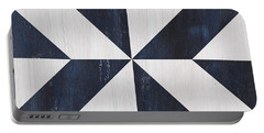 Indigo And Blue Quilt Portable Battery Charger