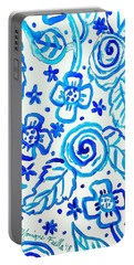 Indigo Blooms Portable Battery Charger