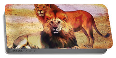 Indigo Lions Portable Battery Charger