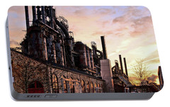 Portable Battery Charger featuring the photograph Industrial Landmark by DJ Florek