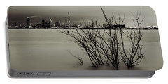 Industry On The Mississippi River, In Monochrome Portable Battery Charger
