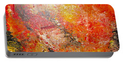 Portable Battery Charger featuring the painting Inferno by Jacqueline Athmann