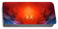 Portable Battery Charger featuring the digital art Inferno by Jutta Maria Pusl