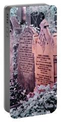 Portable Battery Charger featuring the photograph Music Hall Stars At Abney Park Cemetery by Helga Novelli