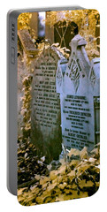 Portable Battery Charger featuring the photograph Infrared George Leybourne And Albert Chevalier's Gravestone by Helga Novelli