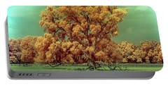 Infrared Surreal Tree Canopy Portable Battery Charger