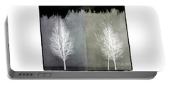 Infrared Trees With Texture Portable Battery Charger