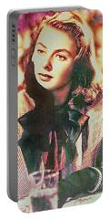 Ingrid Bergman - Movie Legend Portable Battery Charger