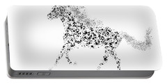 Portable Battery Charger featuring the drawing Ink Splattered Stallion by Nick Gustafson