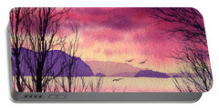 Portable Battery Charger featuring the painting Inland Sea Islands by James Williamson