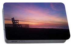 Portable Battery Charger featuring the photograph Inlet Beach At Dawn by Robert Banach